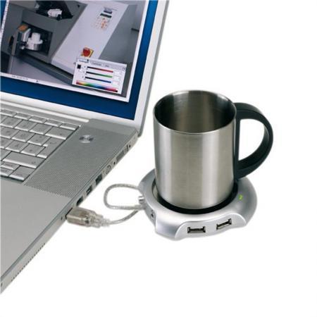 USB Hub-нагреватель кружки с 4 портами  - купить со скидкой