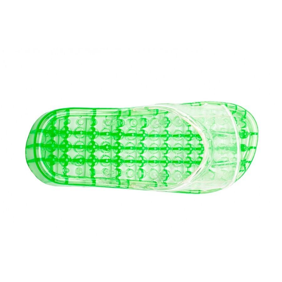 Тапочки массажные силиконовые - M (26см), зеленыеОстальное<br>Если вы живете в сумасшедшем ритме, а дома тоже не удается расслабиться из-за бытовых забот и хлопот, то скорее знакомьтесь с массажными силиконовыми тапочками зеленого цвета. Всего за 20 минут ношения тапочек, вы получите прилив бодрости и восстановите силы. Ходите по дому и наслаждайтесь!<br>
