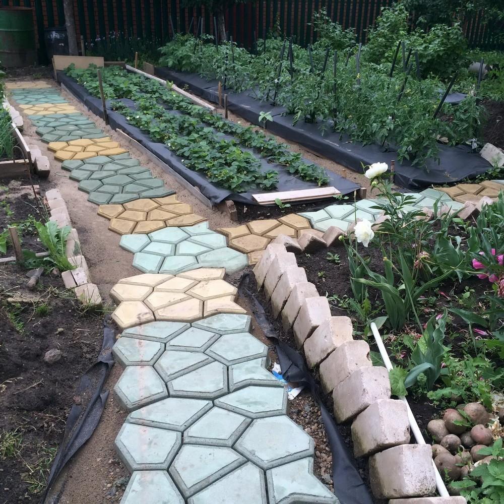Формы для садовая дорожка своими руками при помощи формы