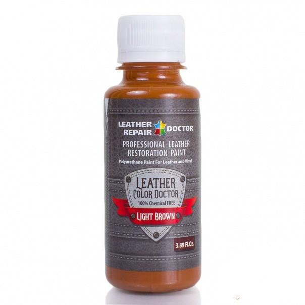 Жидкая кожа, полиуретановая — светло-коричневая, 125 мл