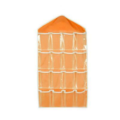 Органайзер для хранения нижнего белья и носков на 16 кармашков, оранжевый