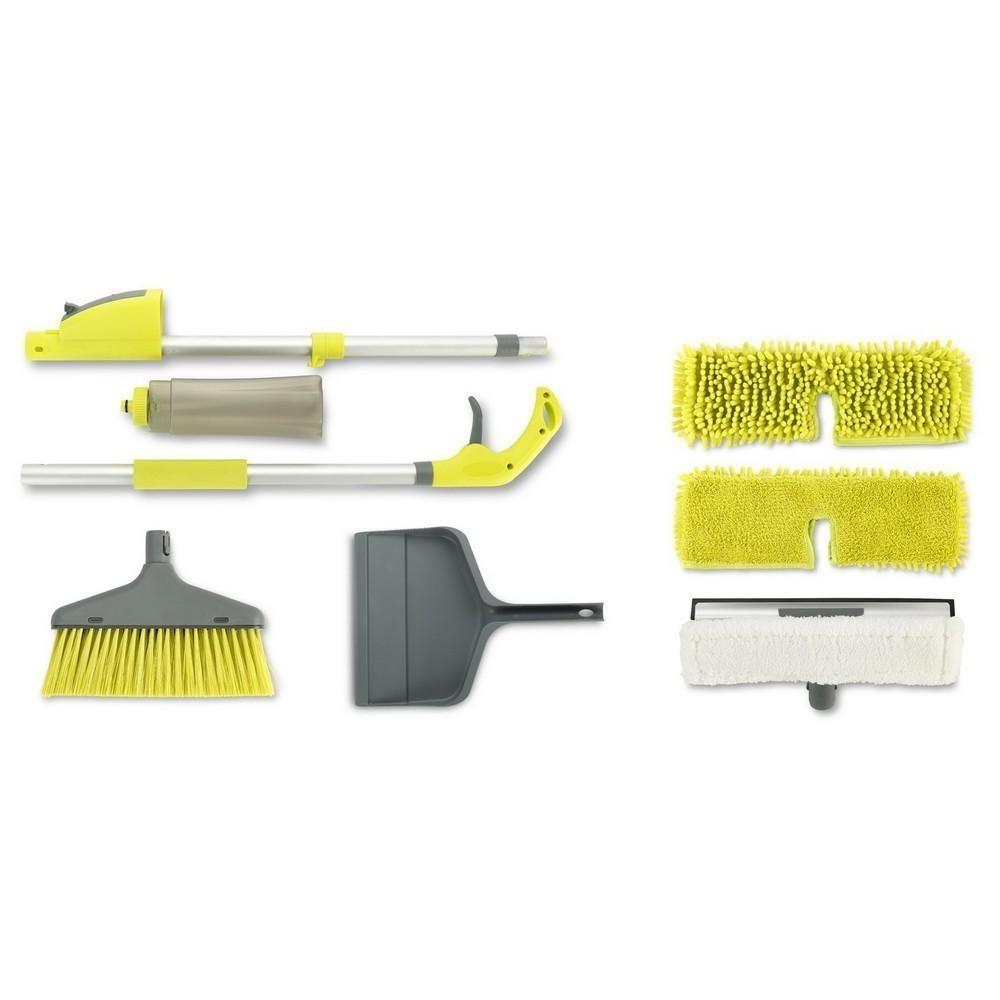 Мульти-Уборщик 5в1 Multi Spray MopШвабры с распылителем<br>Если во время уборки своего уютного гнездышка вы привыкли использовать веник, совок, швабру, множество тряпочек для удаления пыли и других помощников, то пора менять эту грустную традицию. Мульти-Уборщик Rovus 5в1 докажет вам, что уборка может быть эффективной, оперативной и приятной. А главное – в комплекте вы найдете все необходимое для того, чтобы ваш дом блестел чистотой!<br>