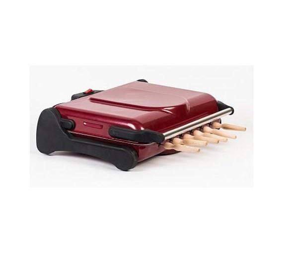 Гриль барбекю-шашлычница электрический AKEL АВ-670, съемный поддон, решетка для гриля / барбекю, 6 шампуров