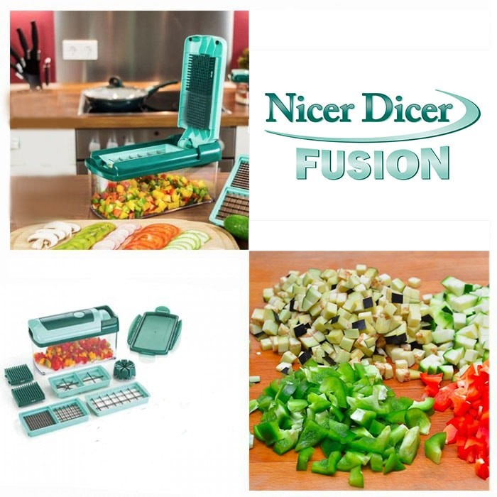 Nicer Dicer Fusion - новая модель овощерезки 10 в 1Овощерезки и измельчители<br>Nicer Dicer Fusion - новая модель овощерезки, которая уже покорила Европу. Теперь и вы сможете купить по доступной цене устройство, которое за считанные секунды нарежет любые продукты идеально ровными большими или маленькими кубиками, соломкой, ломтиками или клиньями!<br>