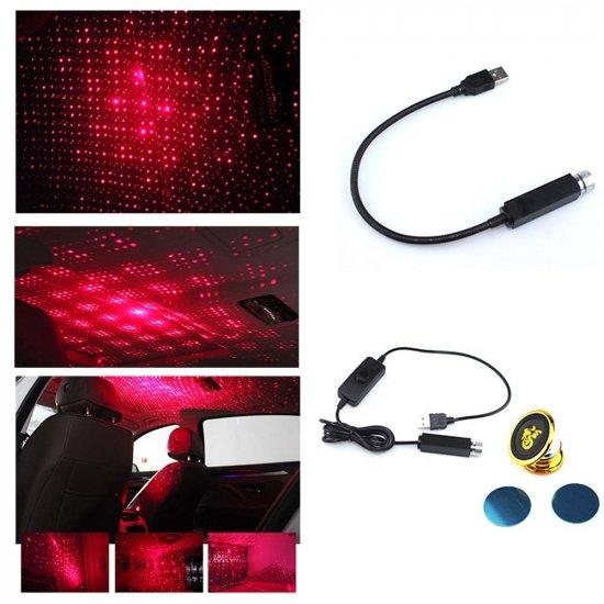 Декоративный USB светильник для автомобиля Star Decoration Lamp