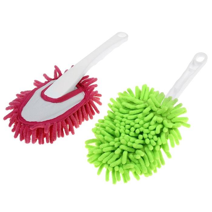 Щетка для удаления пыли, 30 см, цвет миксМетелки от пыли<br>Пыль постоянно оседает на поверхностях в вашем доме и не дает вам покоя? Вы просто не умеете с ней бороться! Забудьте навсегда о дорогостоящих химических средствах, которые только отравляли вашу кожу, ведь идеальную чистоту в вашем гнездышке обеспечит простая, удобная и эффективная щетка для пыли из микрофибры!<br>