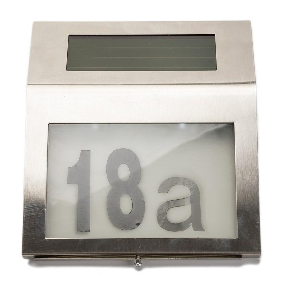 Указатель номера дома с подсветкой и солнечной батареей — Мой дом