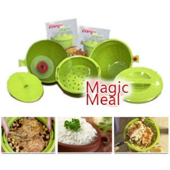 Волшебная кастрюля для микроволновки Magic MealДля микроволновки<br>Не успеваете приготовить вкусный и полезный ужин для всей семьи из-за нехватки времени? Совершенно не обязательно покупать фаст фуд. Теперь вы сможете без труда справиться с этой задачей, благодаря волшебной кастрюле для микроволновки Magic Meal.<br>