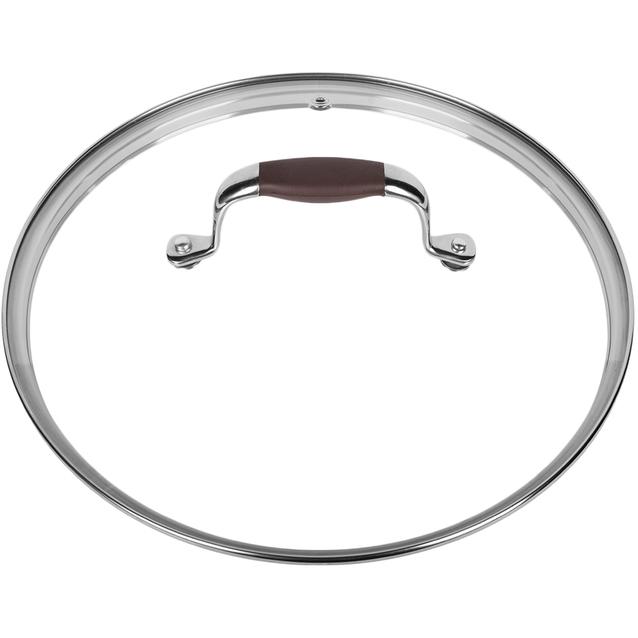 Крышка RONDELL (24 см стекло) MoccoКрышки<br>Rondell RDA-533/RDA-534/RDA-535 – высококачественная стеклянная крышка, которая отличается высокой надежностью, не темнеет со временем, сохраняет форму и прозрачность, а также великолепный внешний вид.<br>