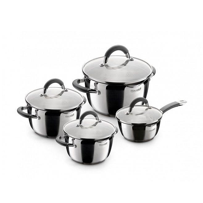 Набор посуды 8 пр. Rondell Flamme 040RDS RDS-040Кастрюли<br>Чтобы приготовить вкусные, полезные и красивые блюда, не хватит только вашего опыта. Главные изделия на кухне каждой хозяйки – это качественная посуда для готовки. Если вы, наконец, решились сменить невзрачные изделия на новые и качественные, то Посмотрите по привлекательной цене набор посуды 8 пр. Rondell Flamme 040RDS!<br>