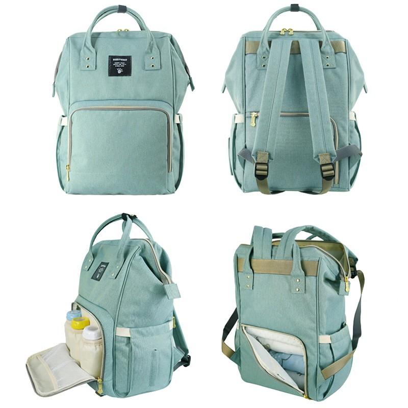 Сумка-рюкзак для мамы Baby Mo, цвет в ассорименте, Зеленый