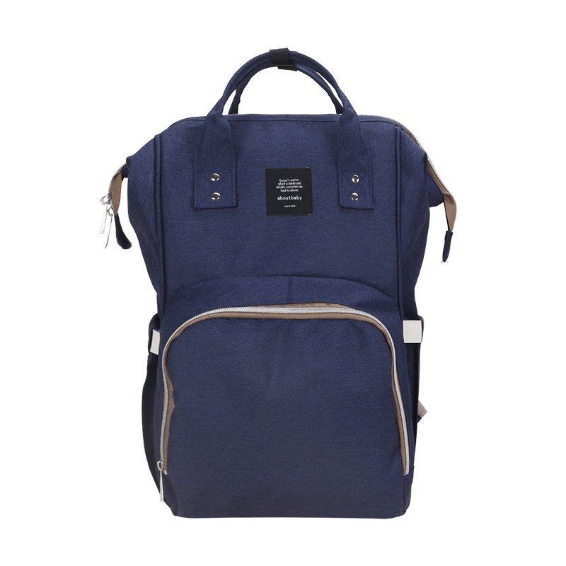 Сумка-рюкзак для мамы Baby Mo с USB, темно-синийСумки и рюкзаки<br>Не знаете, куда складывать все принадлежности малыша во время прогулки? Ищете максимально вместительный и удобный рюкзак? Обязательно обратите внимание на сумку-рюкзак для мамы Baby Mo c USB,  цвет в ассортименте! Этот аксессуар подарит вам максимум комфорта и освободит ваши руки!
