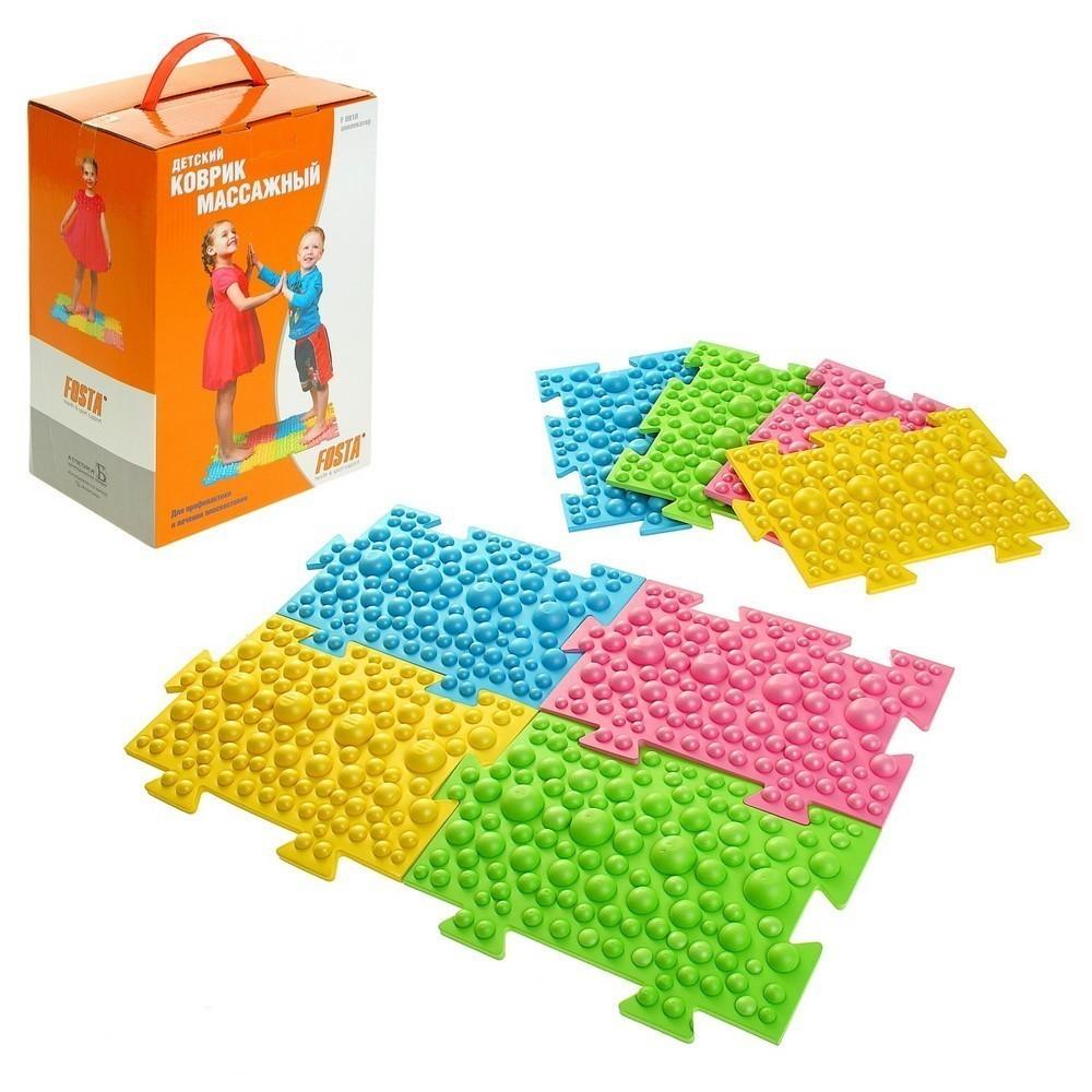 Детский массажный коврик из 8 модулей, 27,3 х 17,8 см