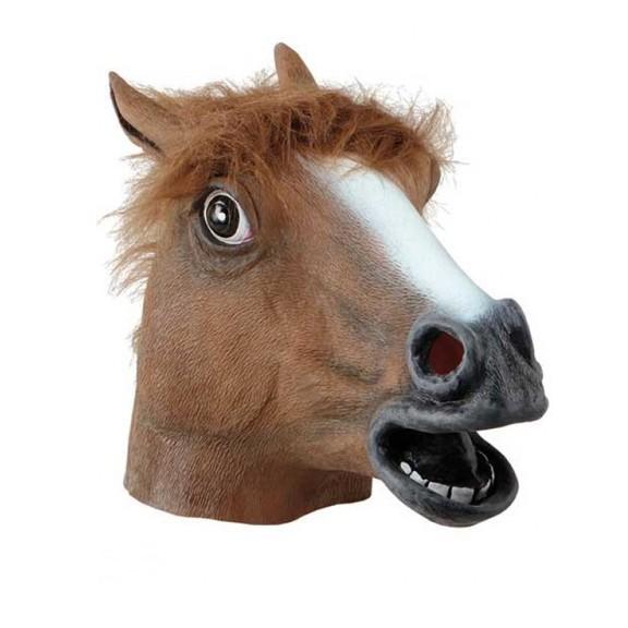 Маска Лошади - Голова КоняМаски<br>Близится костюмированная вечеринка и вам хочется удивить друзей своей креативностью? Посмотрите маску лошади. Вам не придется мучить себя в неудобном и жарком костюме, ведь к этому аксессуару прекрасно подходит любая повседневная одежда!<br>
