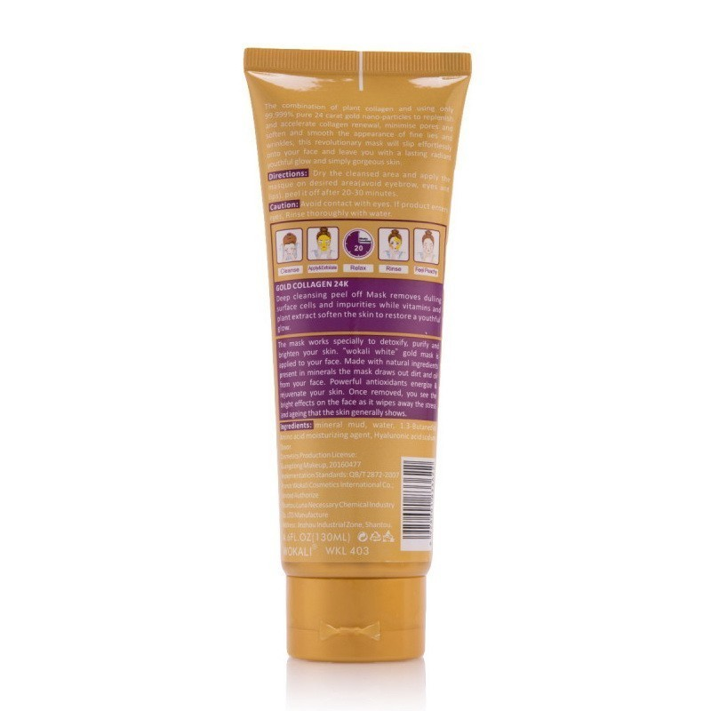 Маска для лица - Золотая маска Wokali Whitening Gold Caviar Peel Off Mask от MELEON