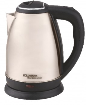 Чайник электрический WILLMARK WEK-1808SS (1.8л, поворот на 360 градусов, корп. из нерж. стали)Бежевый