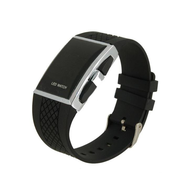 Светодиодные часы - черные от MELEON