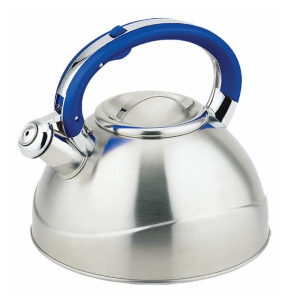 Чайник TECO 3,0 л, голубойЧайники металлические<br>Чайник со свистком «Teco» изготовлен из высококачественной нержавеющей стали, что обеспечивает долговечность использования.<br>