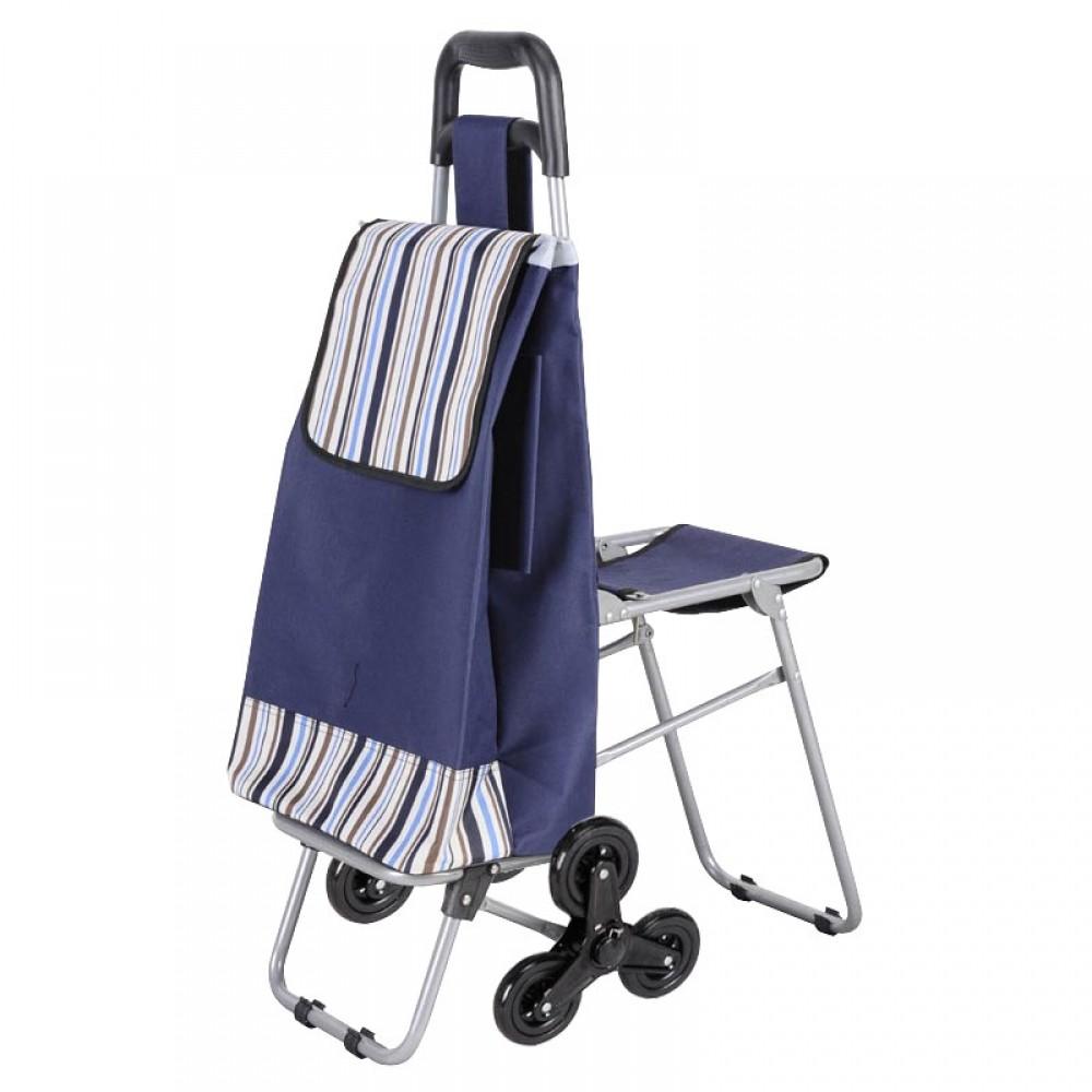 Хозяйственная тележка-сумка на 6 колесах со стулом