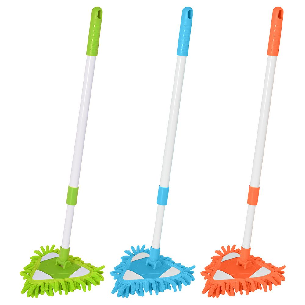 Щетка для уборки c телескопической ручкой, цвет микс