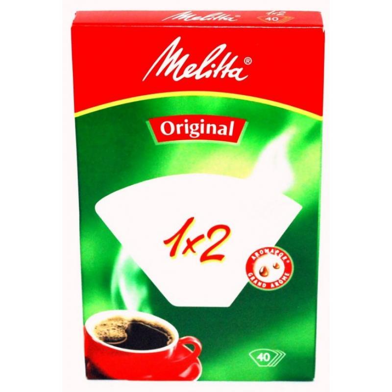 Фильтры бумажные для заваривания кофе Melitta белого цвета 1:2