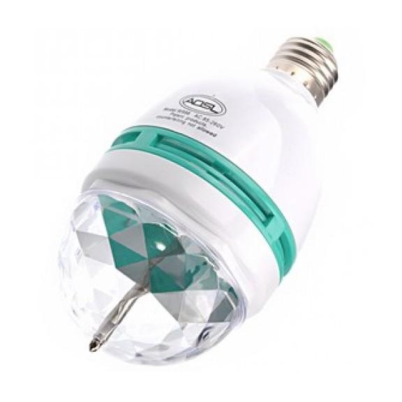 Вращающаяся диско лампа LEDСветильники проекторы<br>А вы знаете, что вечеринка может быть не слишком растратной, а веселой и зажигательной за минимальную сумму денег? Наверняка, вы не раз видели во всемирной паутине или в магазинах города для вечеринок огромные диско лампы и даже мечтали о ее приобретении. Но не огорчайтесь, ведь вам нужно посмотреть не менее яркую вращающуюся диско лампу LED по доступной цене. Вам не придется вызывать специалистов или думать о том, как расширить комнату!<br>