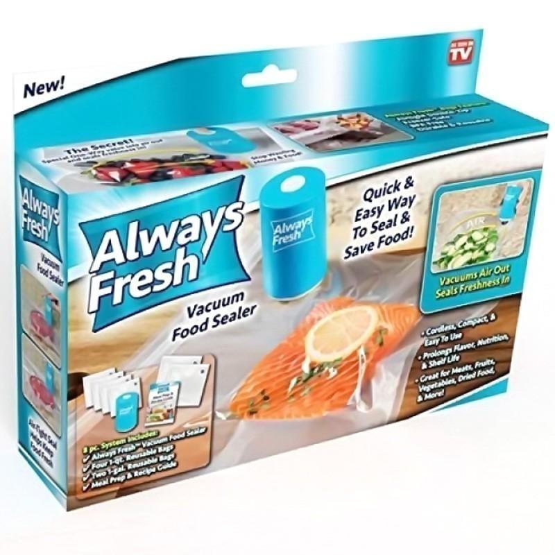 Вакуумные пакеты для еды Always Fresh с машинкой для высасывания воздуха