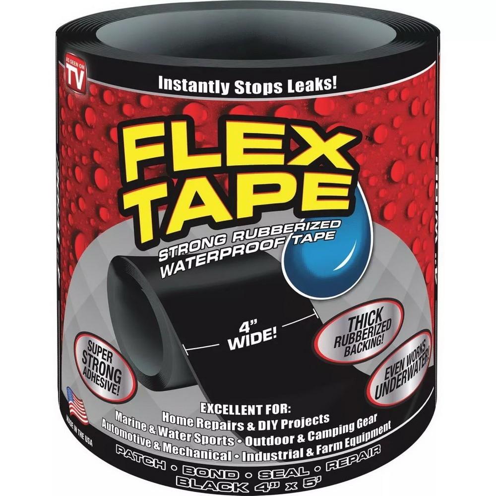 Сверхсильная клейкая лента Flex Tape (10*152 см), черный