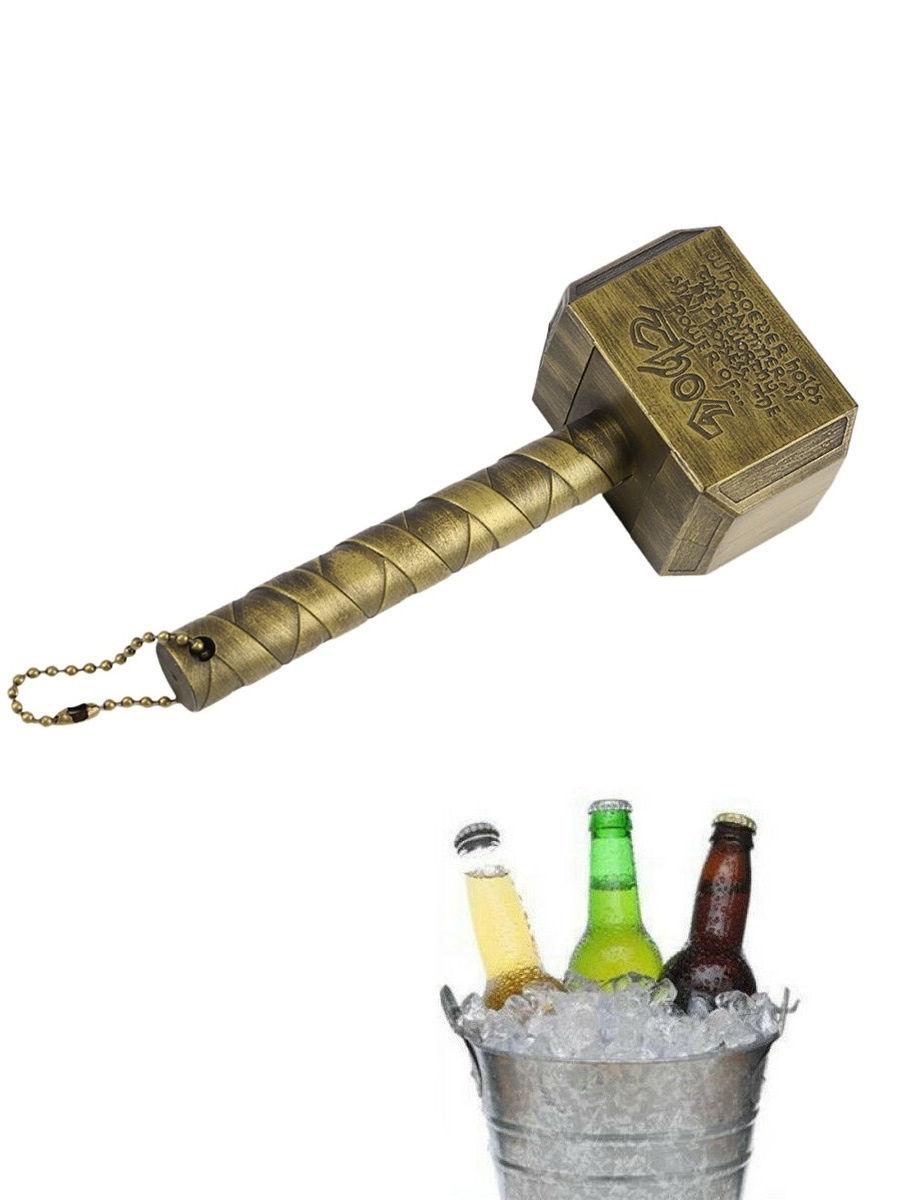 Открывалка для бутылок — Молот Тора, золото