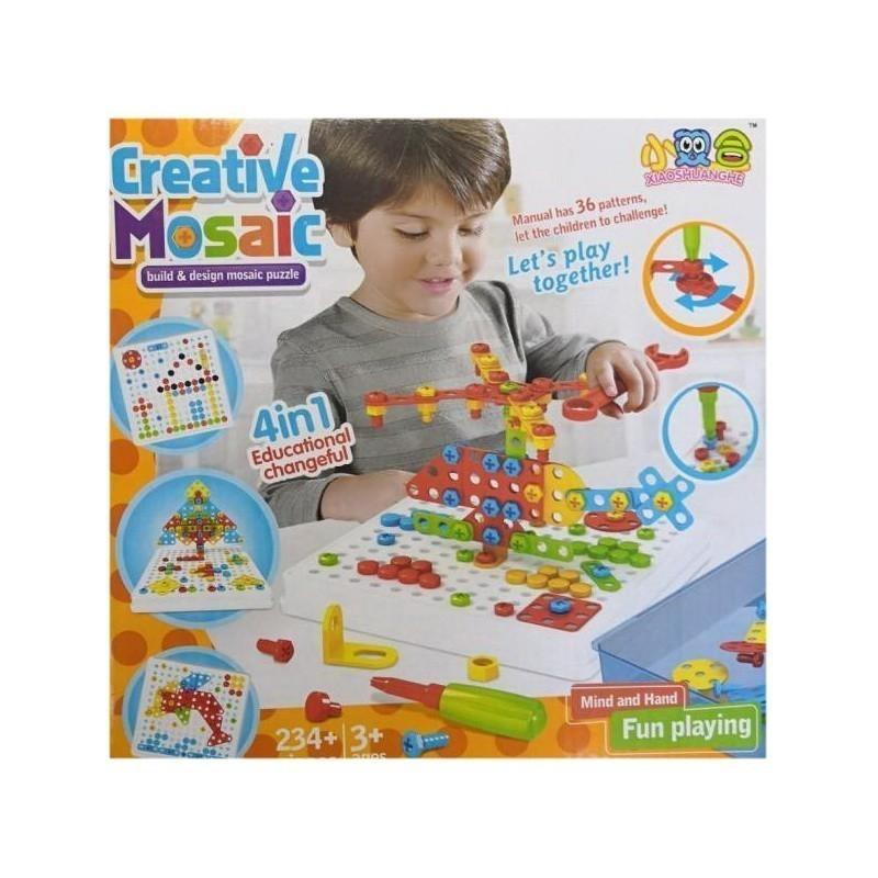 Конструктор-мозаика с отверткой Creative Mosaic, 234 детали, Конструкторы  - купить со скидкой