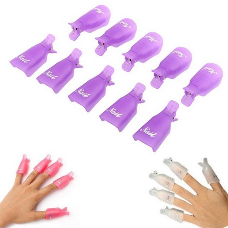 Набор зажимов для снятия гель-лака, цвет МИКСДля дизайна ногтей<br>Если покрытие гель-лаком на ногтях вам надоело, то удалить его очень просто. Посмотрите.набор зажимов для снятия гель-лака, цвет микс. Эти клипсы подходят как для домашнего использования, так и для работы в салоне красоты.<br>