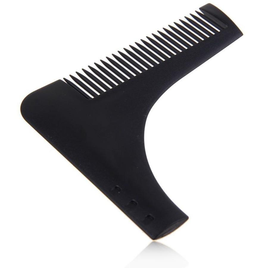 Расческа - шаблон для бритья бороды, черная от MELEON