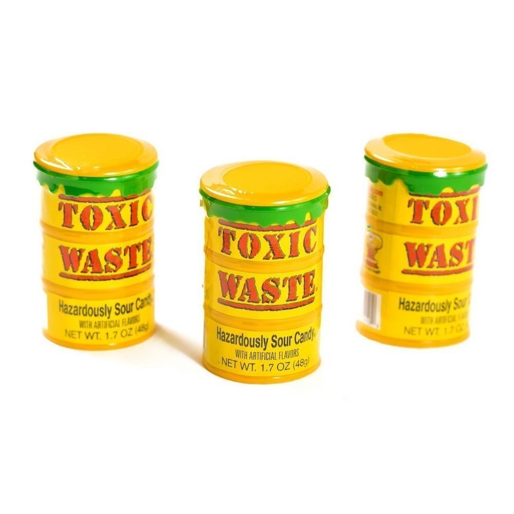 Самые кислые конфеты в мире- Toxic Waste, в ассортименте, 48 г, Yellow