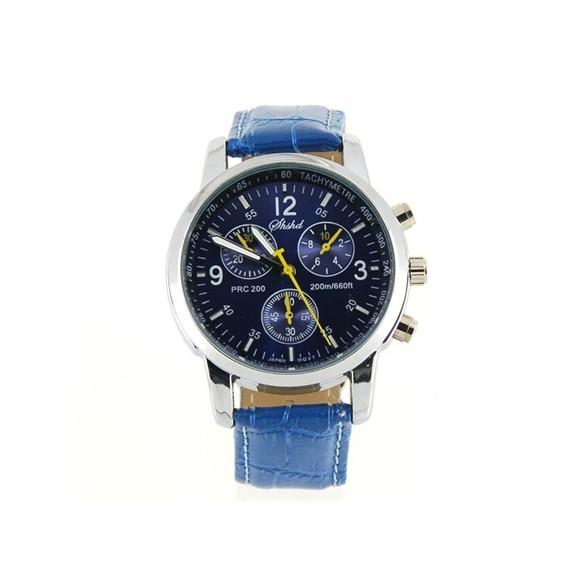 Модные кварцевые часы - синиеМеханические часы<br>Модные кварцевые часы синего цвета выгодно дополнят как деловой костюм, так и повседневную одежду. Оригинальное изделие скажет многое о вашем чувстве стиля!<br>