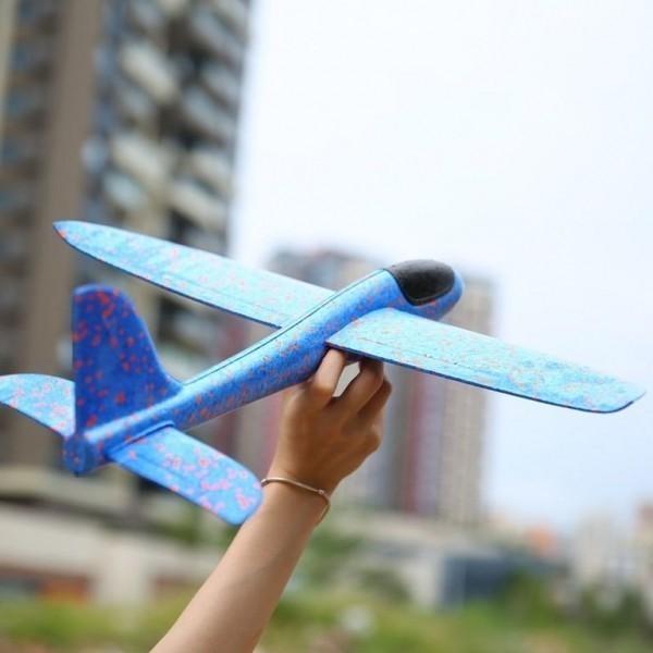 Самолет метательный планер, розовый, 30 см