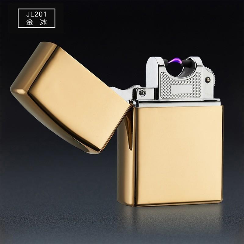 USB зажигалка электроимпульсная, Золотой