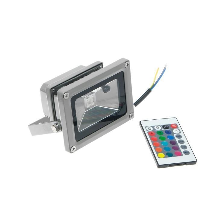 Прожектор светодиодный Uniel, 10 Вт, пульт ДУ, мультиколор