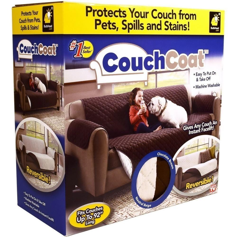 Двустороннее покрывало для кресла Couch coatПодушки и пледы<br>Если вы устали собирать шерсть своего питомца по всему дому и вам приходится прогонять животное с кресла, чтобы не испортилась мебель, то Можно вам помочь. Посмотрите по привлекательной цене двустороннее покрывало для кресла Couch coat. Изделие прекрасно подходит для любых моделей кресел, а главное – обеспечит ему 100% защиту от шерсти, пятен или случайного пролива напитков и еды!<br>
