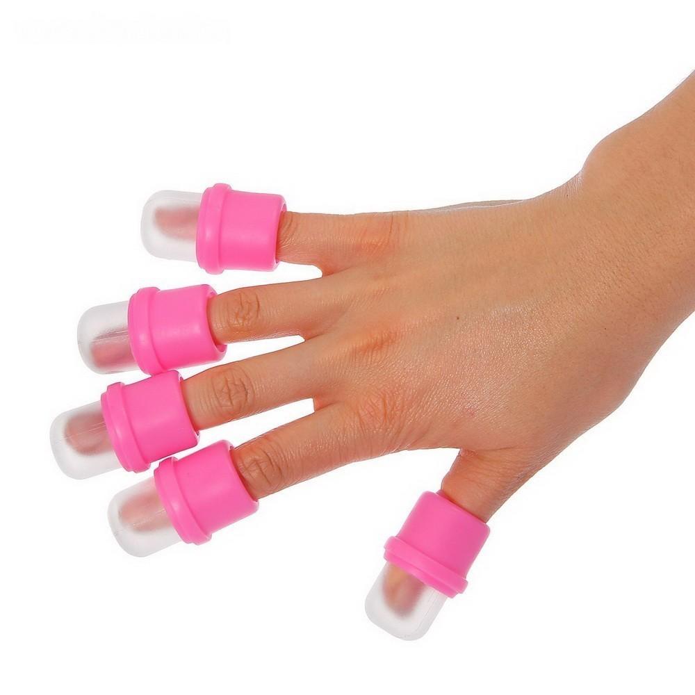 Набор напальчников для снятия гель-лака, 10штДля дизайна ногтей<br>Если вы делаете себе маникюр в домашних условиях или вам наскучило покрытие из салона, то благодаря набору напальчников для снятия гель-лака из силикона, вы сможете с легкостью удалить покрытие.<br>
