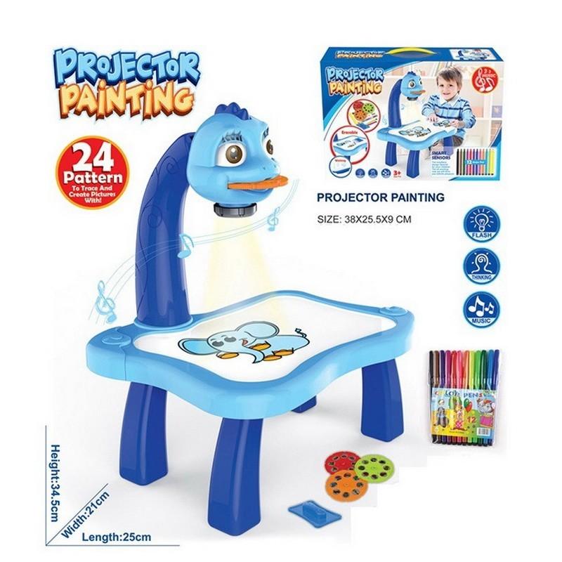Детский проектор для рисования со столиком, для мальчиковТовары для творчества<br>Как привлечь маленькую непоседу к новым знаниям? Как подобрать веселую игру для развития дошкольника? Посмотрите.детский проектор для рисования со столиком. Приспособление пополнит копилку любимых игрушек вашего ребенка!<br>