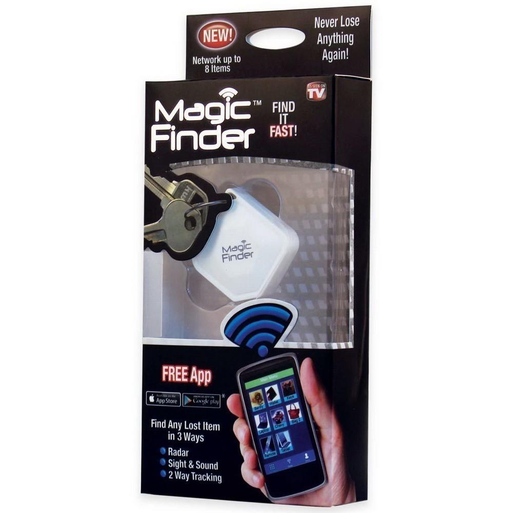 Брелок для поиска Magic FinderБрелок для поиска ключей<br>Как найти ключи, если в доме царит творческий беспорядок, а вы жутко опаздываете? Проще простого! Вам поможет «умный» брелок для поиска Magic Finder. Громкая мелодия предоставит вам точный ответ. Теперь вы точно никуда не будете опаздывать!<br>