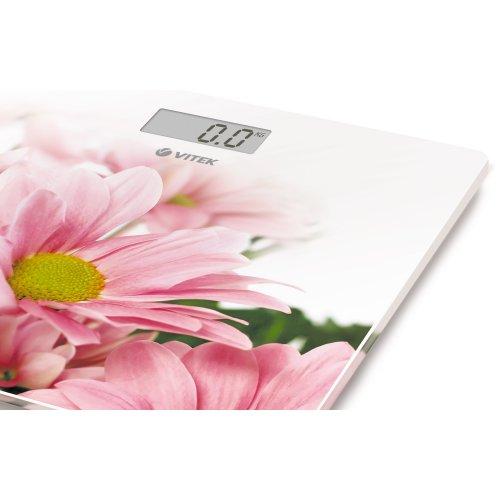 Весы напольные VitekВесы - мерило достижений<br>Напольные весы Vitek VT-8051(W) с ярким дизайном, которые наполнят ваш дом отличным настроением! Простые и удобные в работе, они позволят легко определить свой вес с точностью до 100 грамм.<br>