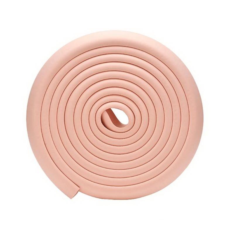 Мягкая защита на края мебели и углы Protective Stripe Beideli, 200х5х1 см, светло-розовый