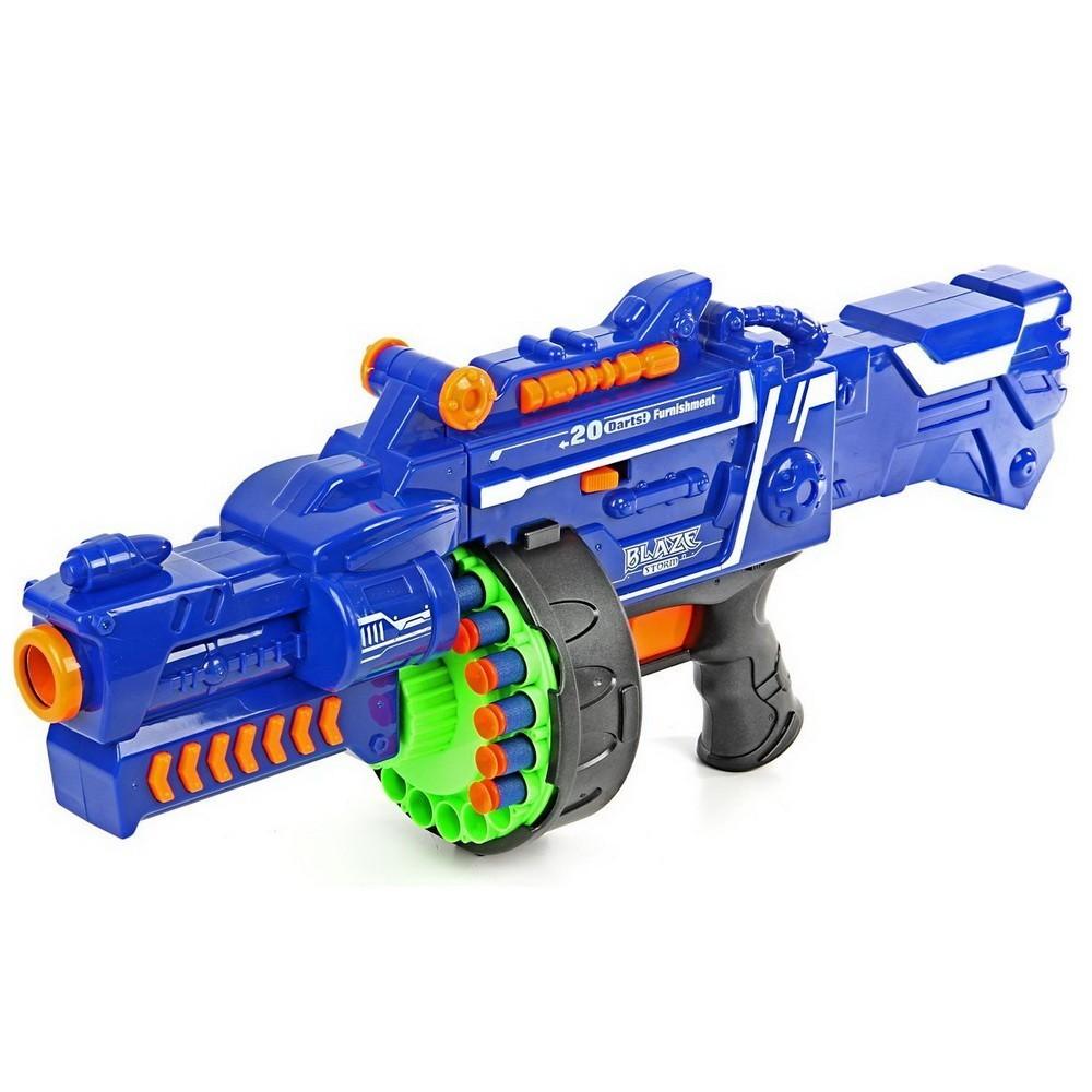 Купить Бластер - Сармат, стреляет мягкими пулями, работает от батареек, Игрушки для мальчиков