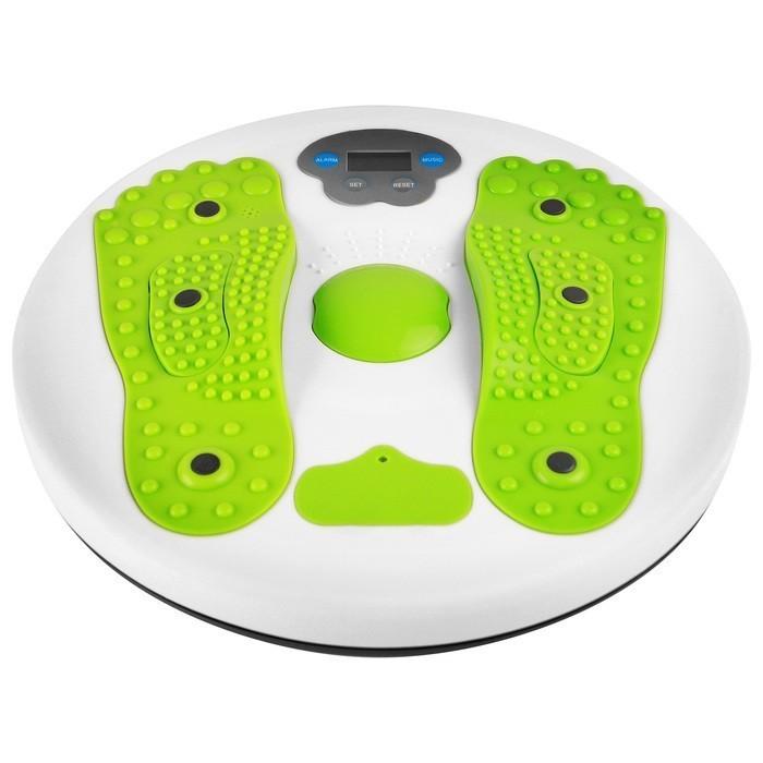 Диск здоровья массажный с электронным счетчиком, 28 см, максимальный вес 80 кг