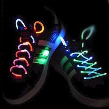 Светодиодные шнурки — 3 режима свечения, цвет микс