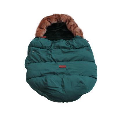 Купить Тёплый меховой конверт с опушкой Dearest от 0 до 2х лет, Морская волна, Товары для новорожденных