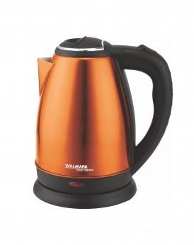 Чайник электрический WILLMARK WEK-1808SS (1.8л, поворот на 360 градусов, корп. из нерж. стали) (Оранжевый)