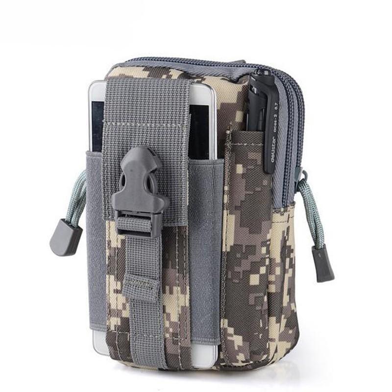 Удобная поясная сумка на ремень - цвет ACUСумки и рюкзаки<br>Удобная поясная сумка на ремень - цвет ACU станет настоящей находкой для мужчин, которым необходимо носить все вещи с собой, но они не любят гаджеты, кошельки и другие предметы раскладывать по карманам.<br>