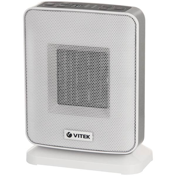 Тепловентилятор Vitek на 20 квадратных метров VT-2052(GY)Тепловентиляторы<br>VITEK VT-2052 GY – компактный тепловентилятор с керамическим нагревательным элементом и электронной системой управления. Он способен создать и поддерживать комфортный микроклимат на площади до 20 кв. м.<br>